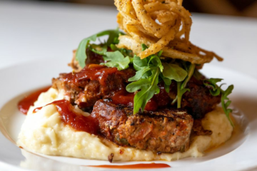 Recipe: Make Joy Cafe's Meatloaf with Garlic Mashed Potatoes and Crispy Onion Straws