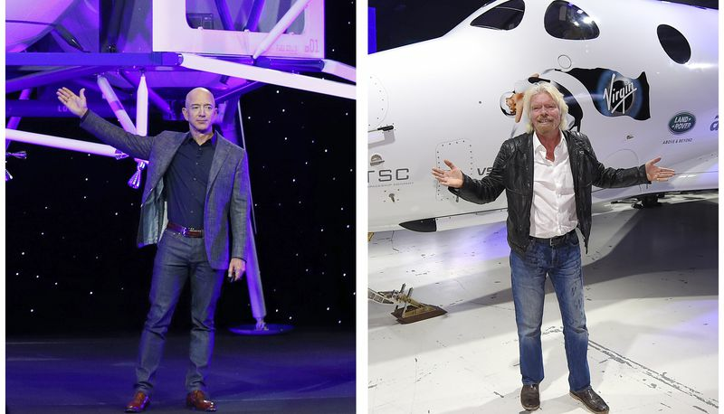 Billionaire Blastoff: Rich riding own rockets into space