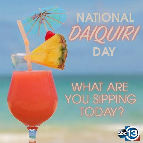 NATIONAL DAIQUIRI DAY | July 19