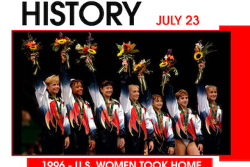 This Day in History July 23, 1996 U.S. Women Took Home Gymnastics GOLD