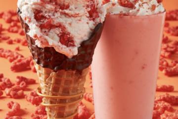 Flamin' Hot Cheetos Ice Cream and Milkshakes Heat Things Up at Marble Slab Creamery