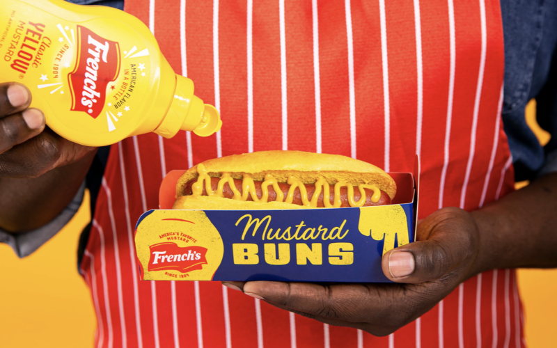 French's Created Hot Dog Buns with the Mustard Baked Right In