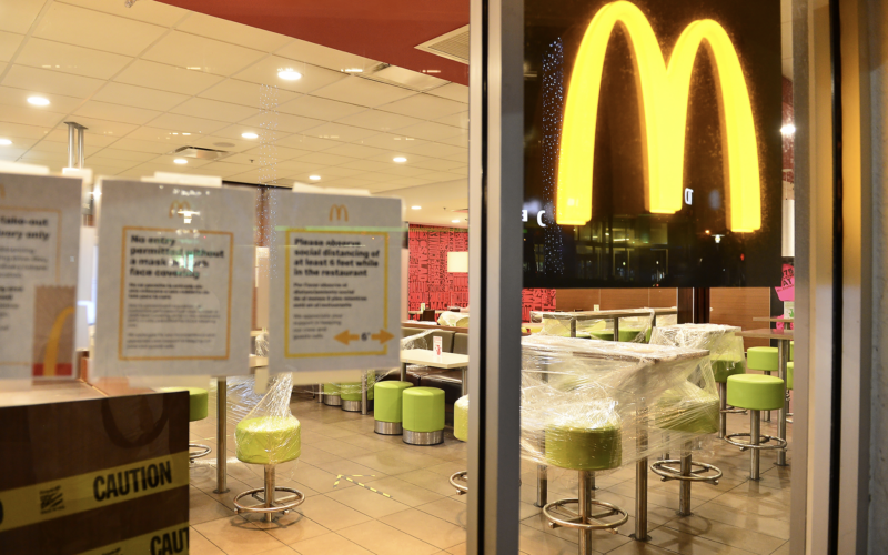 McDonald's Restaurants Could Close Dining Rooms Again Due to the Delta Variant