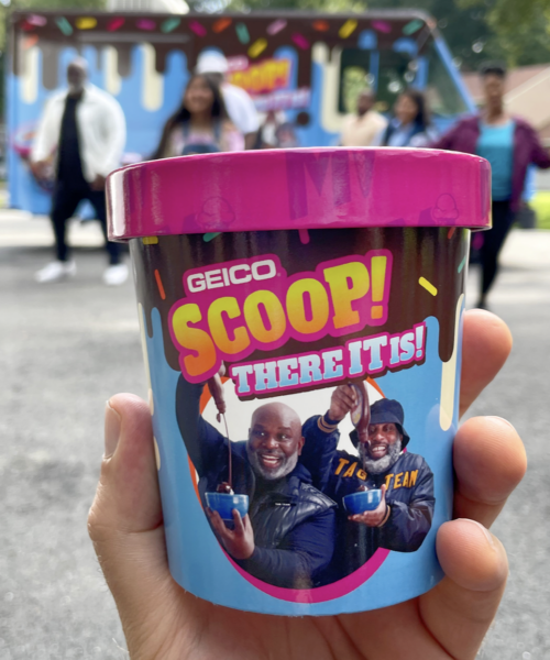 Scoop! Here It Is — Geico Turned That Tag Team Commercial Into a Real-Life Ice Cream