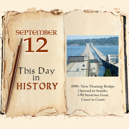 This Day in History September 12, 1993 New Floating Bridge Opened in Seattle