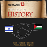 This Day in History September 13, 1993 Israel-Palestine Peace Accord Signed