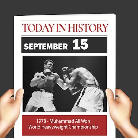 This Day in History September 15, 1978 Muhammad Ali Won World Heavyweight Championship