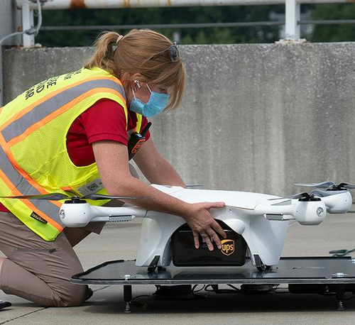 Sandy Springs: UPS delivers first COVID-19 vaccines by drone